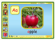 ABC mouse phonics game: A is for Apple