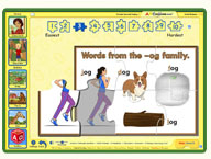 ABC mouse puzzle: Word Family Puzzle