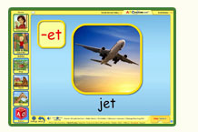 ABC mouse word family game: Jet