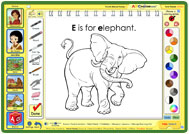 E is for Elephant painting